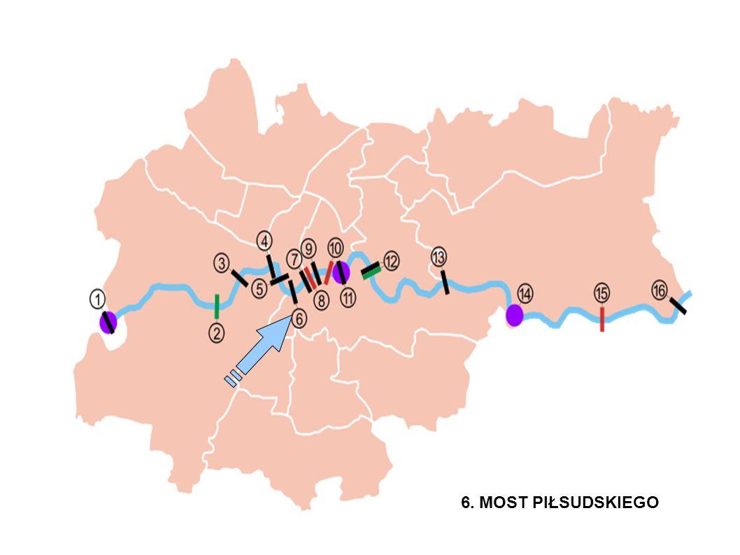 Stopień Kościuszko/ most piekarski Data oddania do użytku ; 1999 długość mostu : 183 m szerokość mostu ; 24,8 m architekt : Leopold Jaczewski ilość przęseł : 5
