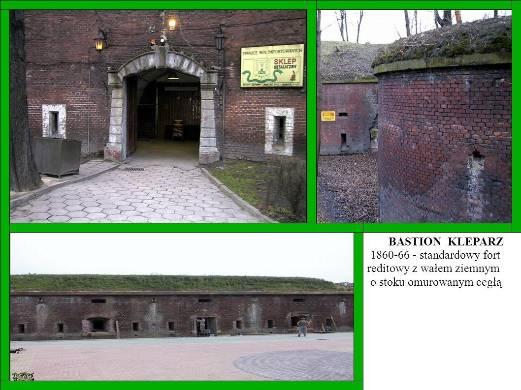 BASTION KLEPARZ 1860-66 - standardowy fort reditowy z wałem ziemnym o stoku omurowanym cegłą