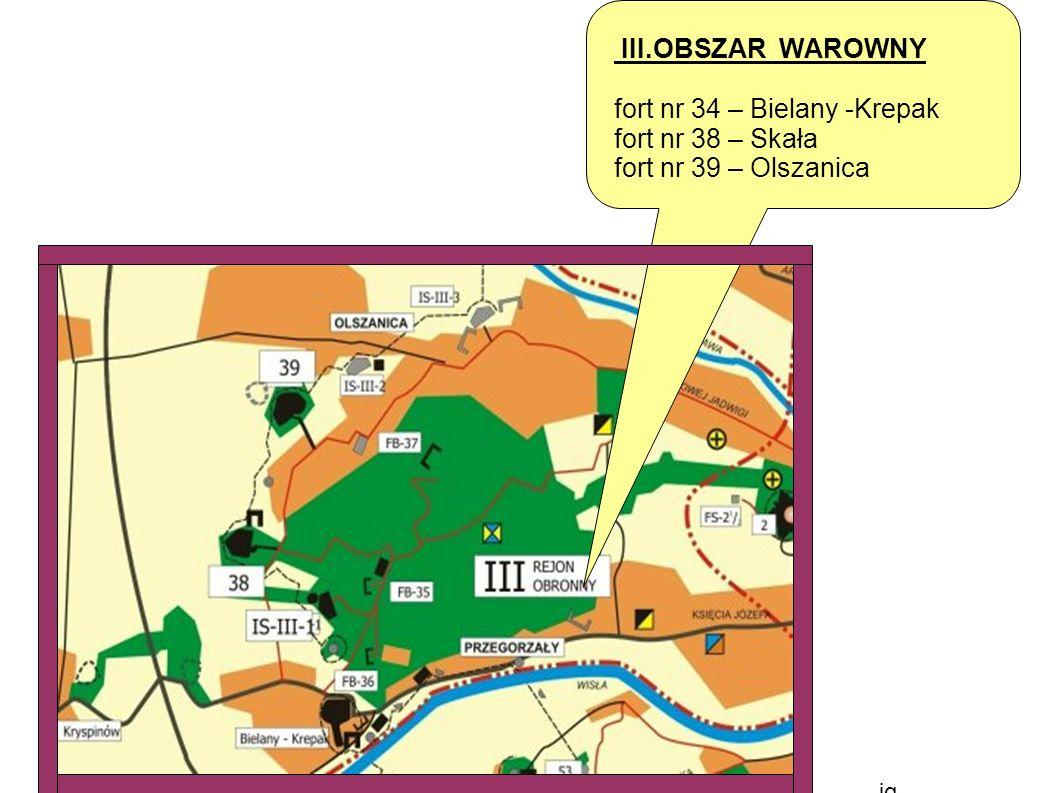 jg III.OBSZAR WAROWNY fort nr 34 – Bielany -Krepak fort nr 38 – Skała fort nr 39 – Olszanica