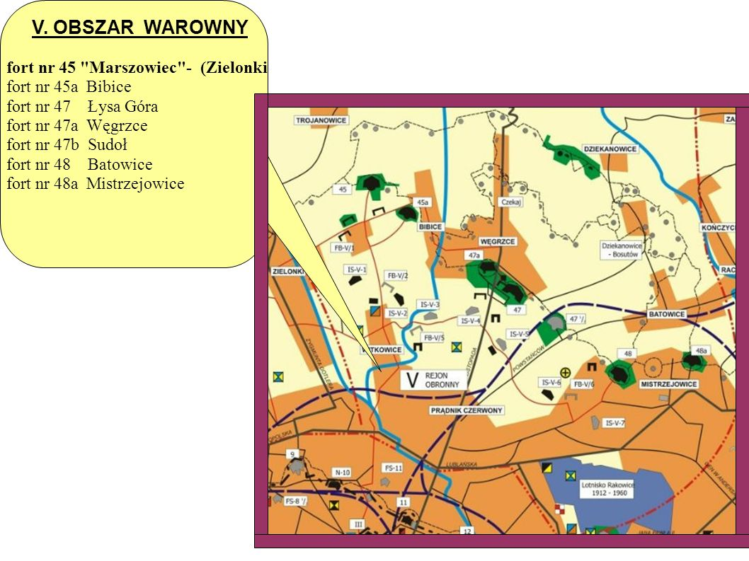V. OBSZAR WAROWNY fort nr 45