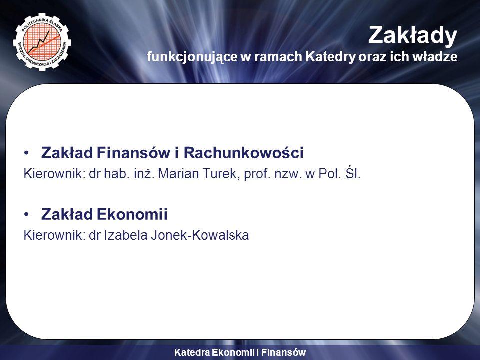 Katedra Ekonomii i Finansów Specjalności i przykładowe przedmioty Finanse i Marketing (FIM) -Finanse i bankowość -Rachunkowość zarządcza i controlling -Zarządzanie kosztami -Budżetowanie -Zarządzanie kapitałem -Finansowe projektowanie inwestycji -Badanie rynków finansowych -Marketing usług finansowych -Controlling w marketingu