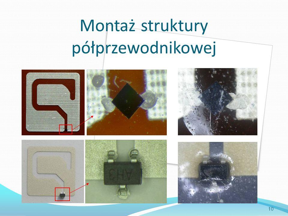 Montaż struktury półprzewodnikowej 10