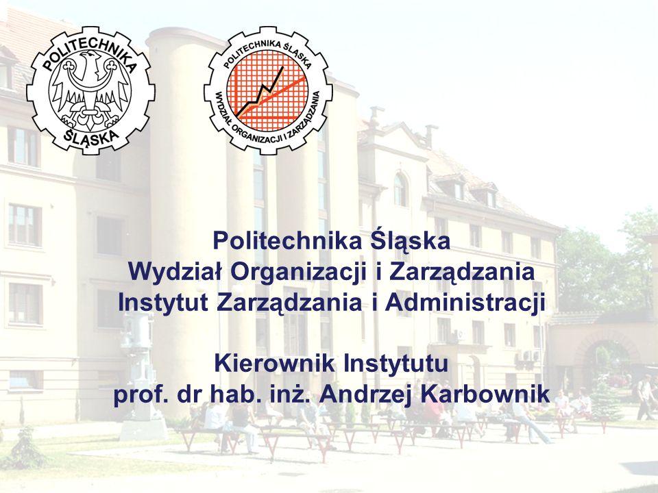 Zakłady funkcjonujące w ramach Instytutu i ich władze Zakład Zarządzania Przedsiębiorstwem i Logistyki Kierownik: dr hab.