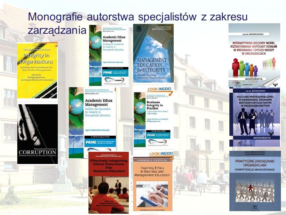 Monografie autorstwa specjalistów z zakresu zarządzania