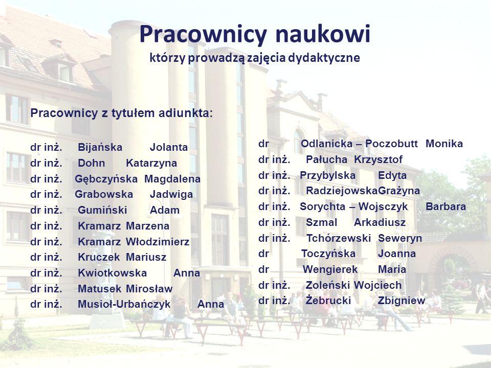 Dane kontaktowe Instytut Zarządzania i Administracji Zakład Zarządzania Przedsiębiorstwem i Logistyki ul.