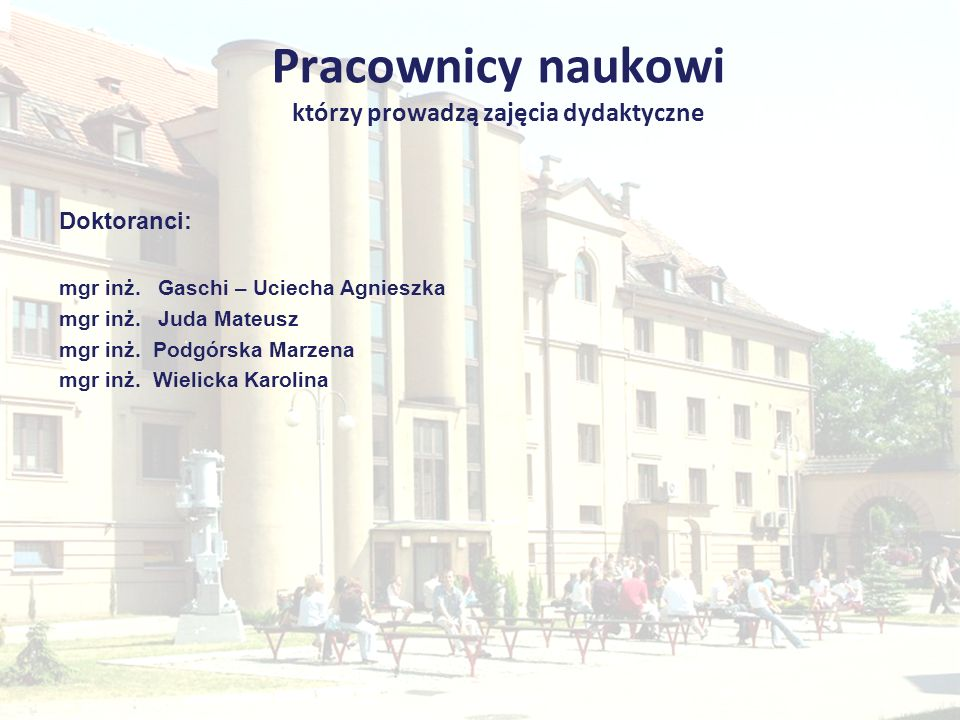Zakład Administracji i Podstaw Zarządzania Kierownik: dr hab.