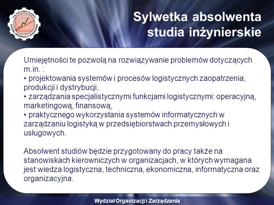 Wydział Organizacji i Zarządzania Kontakt Instytut Zarządzania i Administracji Zakład Zarządzania Przedsiębiorstwem i Logistyki ul.