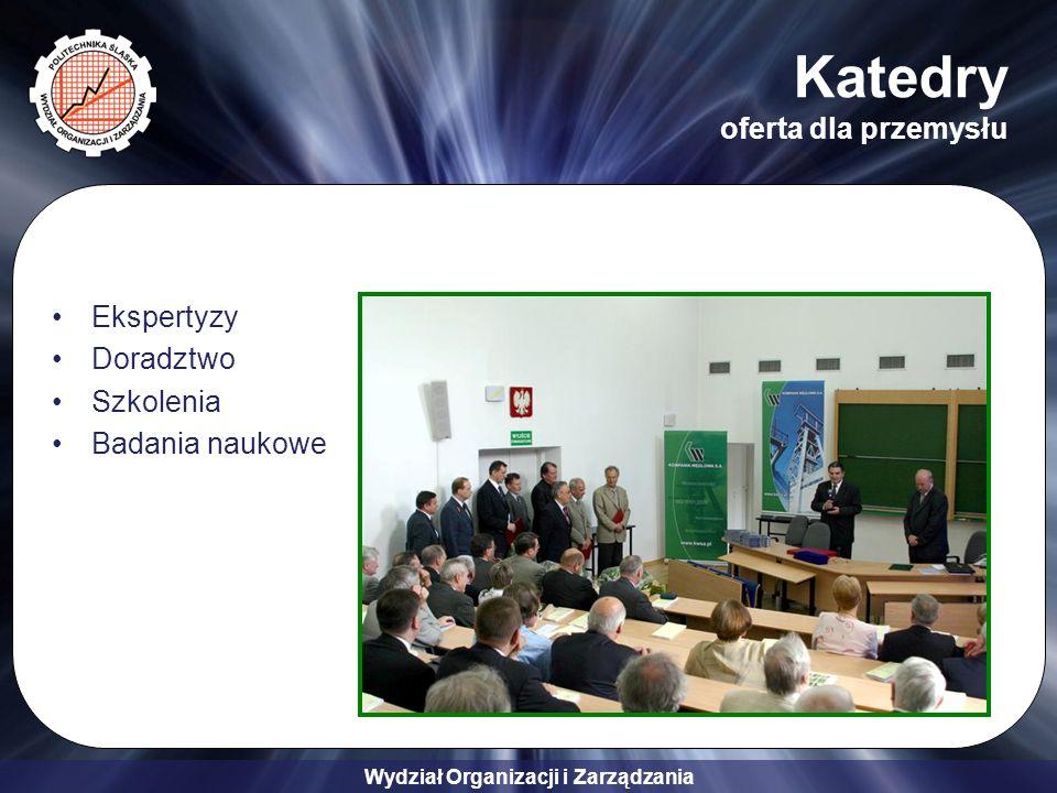 Wydział Organizacji i Zarządzania Katedry oferta dla przemysłu Ekspertyzy Doradztwo Szkolenia Badania naukowe