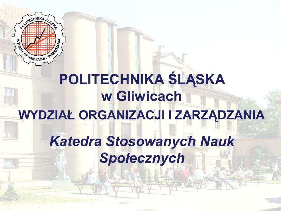 Katedra Stosowanych Nauk Społecznych Władze Kierownik Katedry dr hab.