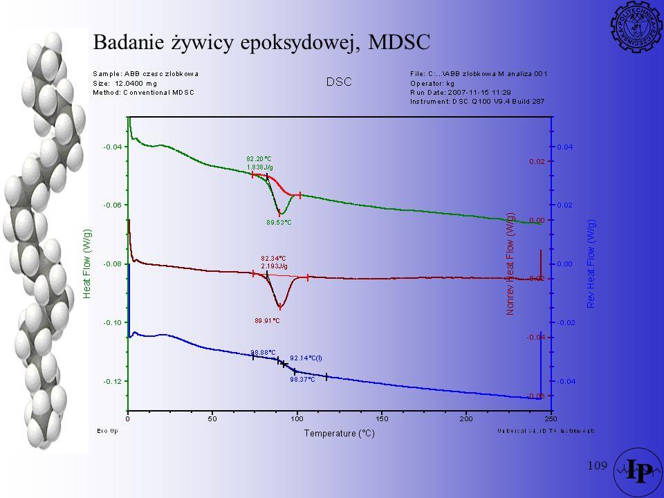 109 Badanie żywicy epoksydowej, MDSC