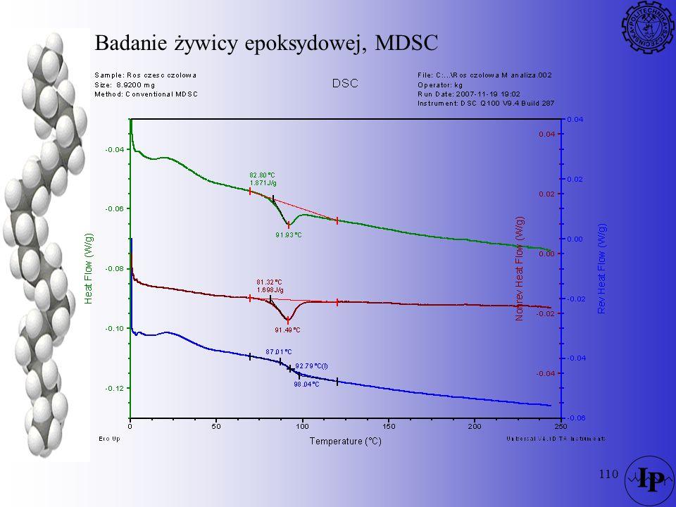 110 Badanie żywicy epoksydowej, MDSC
