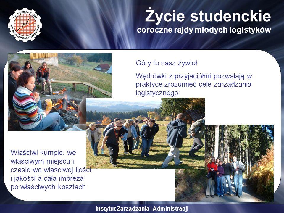 Instytut Zarządzania i Administracji Życie studenckie coroczne rajdy młodych logistyków Góry to nasz żywioł Wędrówki z przyjaciółmi pozwalają w prakty