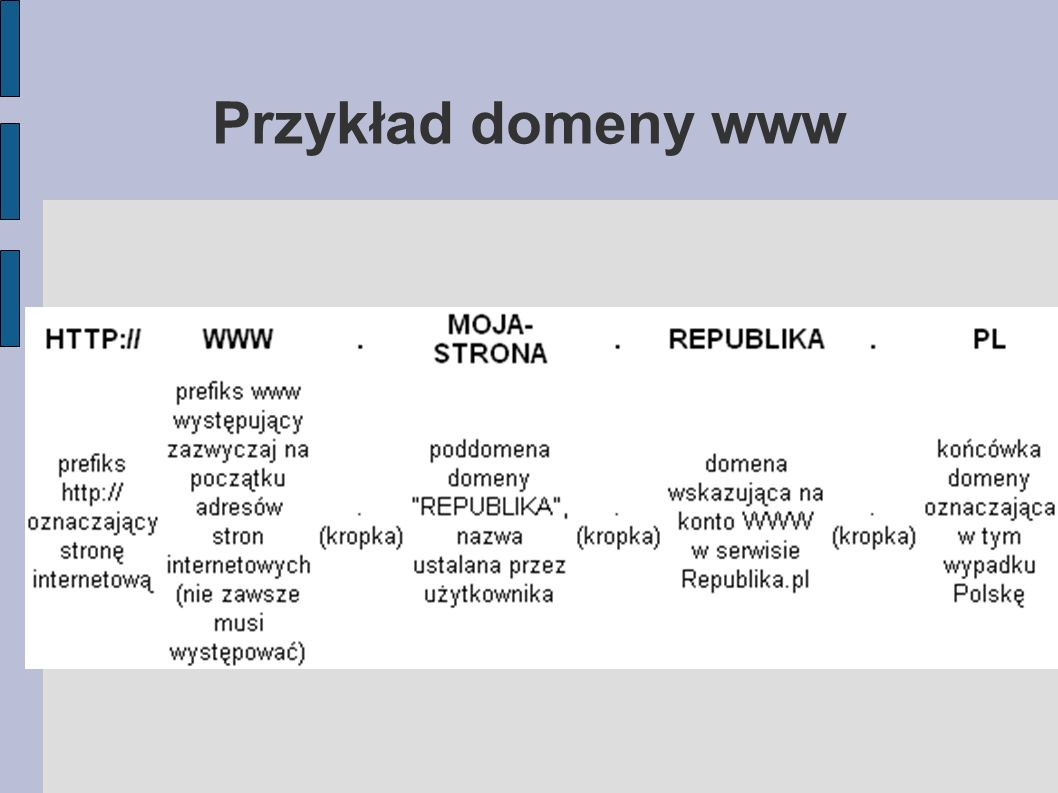 Przykład domeny www