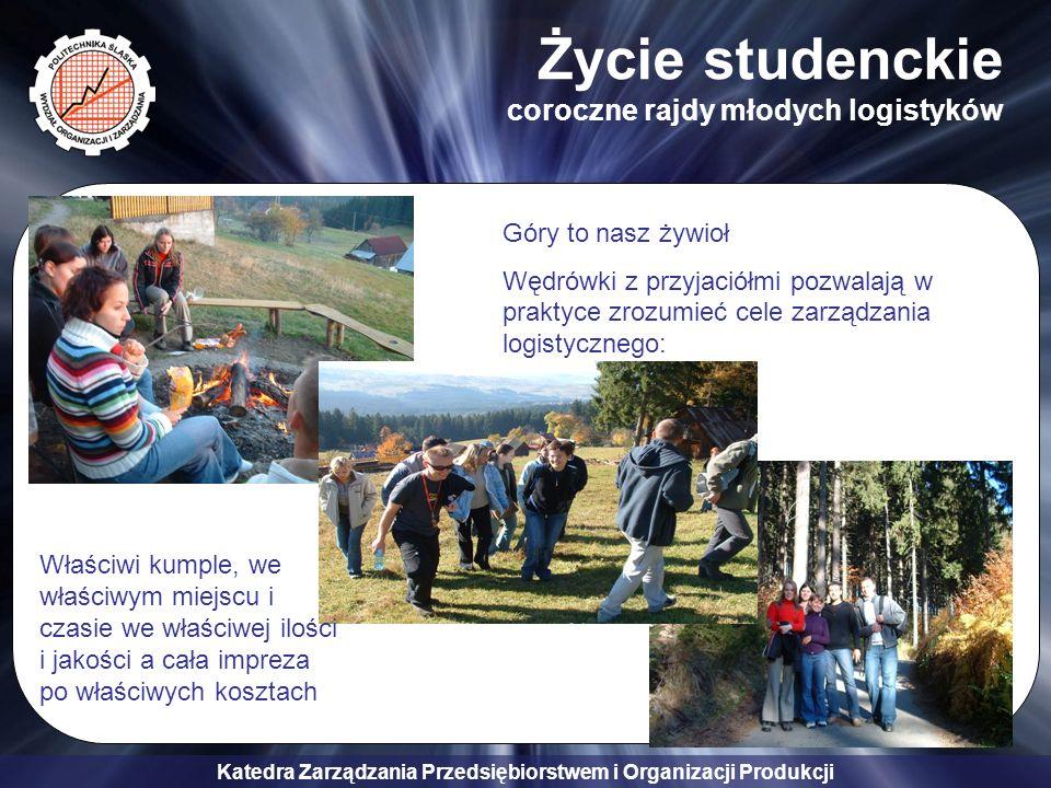 Katedra Zarządzania Przedsiębiorstwem i Organizacji Produkcji Życie studenckie coroczne rajdy młodych logistyków Góry to nasz żywioł Wędrówki z przyja