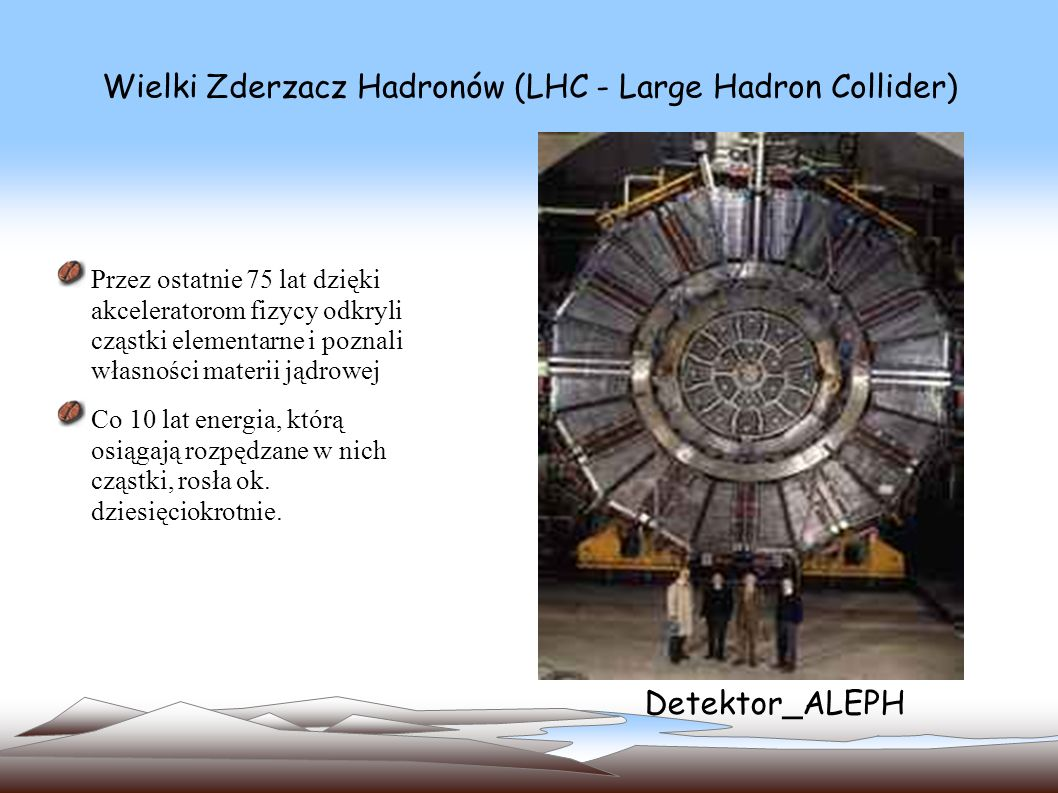 Wielki Zderzacz Hadronów (LHC - Large Hadron Collider) gabaryty akceleratorów zbliżają się już do granic możliwości technicznych i opłacalności Teraz wielu fizyków cząstek ma nadzieję, że po LHC przyjdzie kolej na budowę 30-kilometrowego akceleratora liniowego