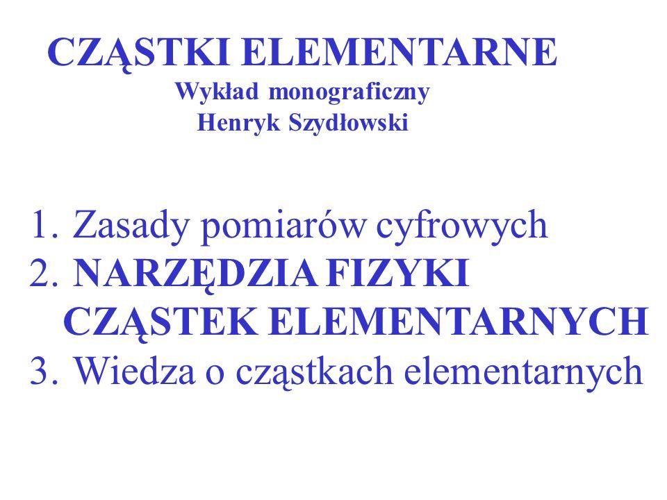 CZĄSTKI ELEMENTARNE Wykład monograficzny Henryk Szydłowski 1.