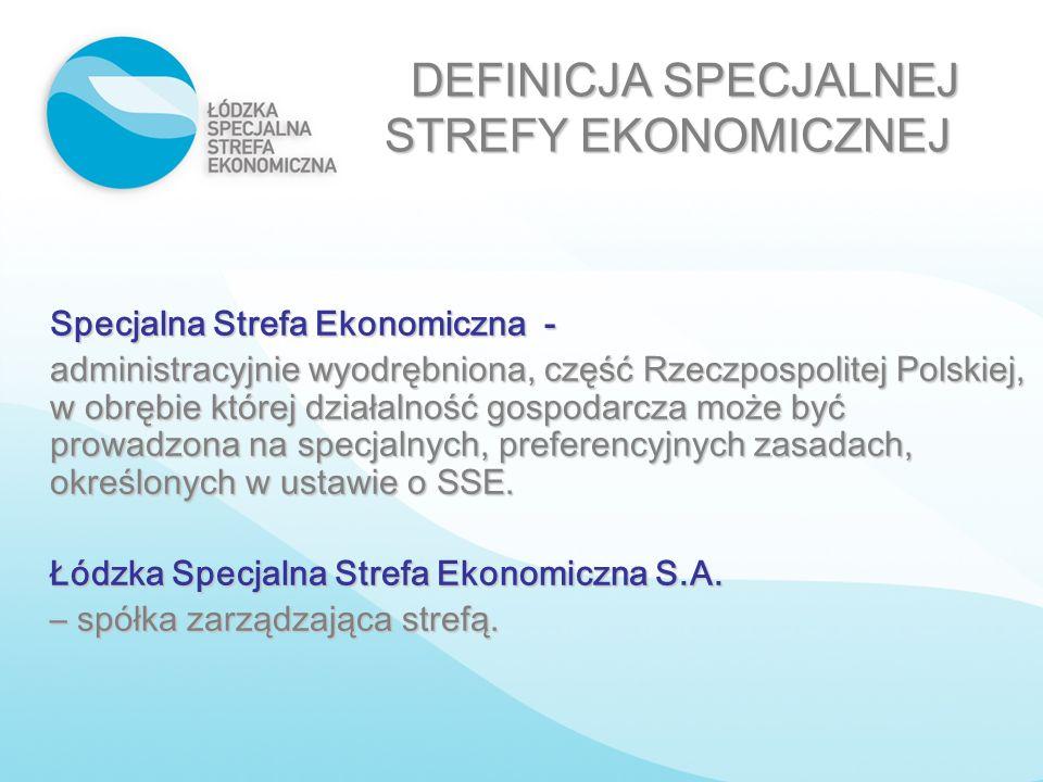 Specjalna Strefa Ekonomiczna - administracyjnie wyodrębniona, część Rzeczpospolitej Polskiej, w obrębie której działalność gospodarcza może być prowad