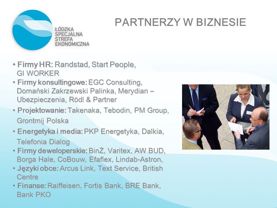 Firmy HR: Randstad, Start People, Firmy HR: Randstad, Start People, GI WORKER GI WORKER Firmy konsultingowe: EGC Consulting, Firmy konsultingowe: EGC