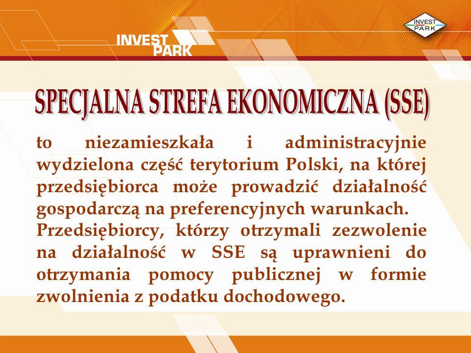 to niezamieszkała i administracyjnie wydzielona część terytorium Polski, na której przedsiębiorca może prowadzić działalność gospodarczą na preferencyjnych warunkach.