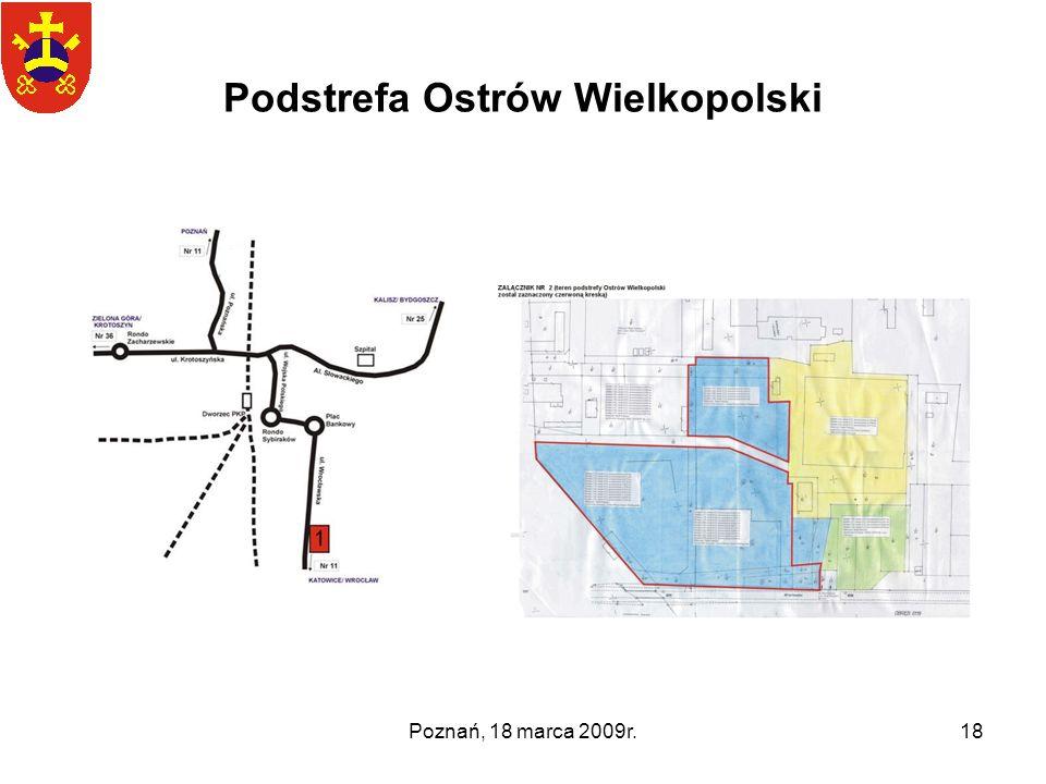 Poznań, 18 marca 2009r.18 Podstrefa Ostrów Wielkopolski