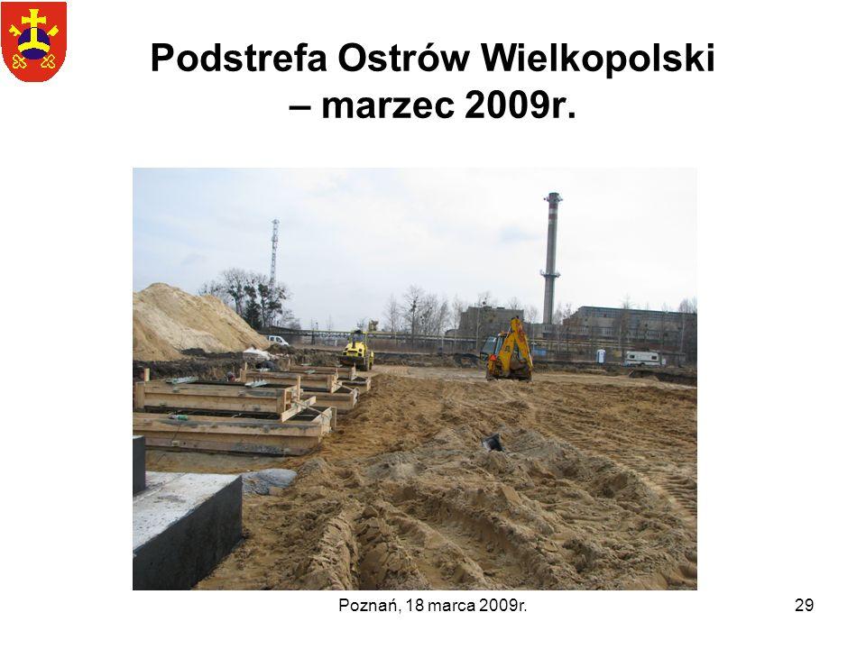 Poznań, 18 marca 2009r.29 Podstrefa Ostrów Wielkopolski – marzec 2009r.