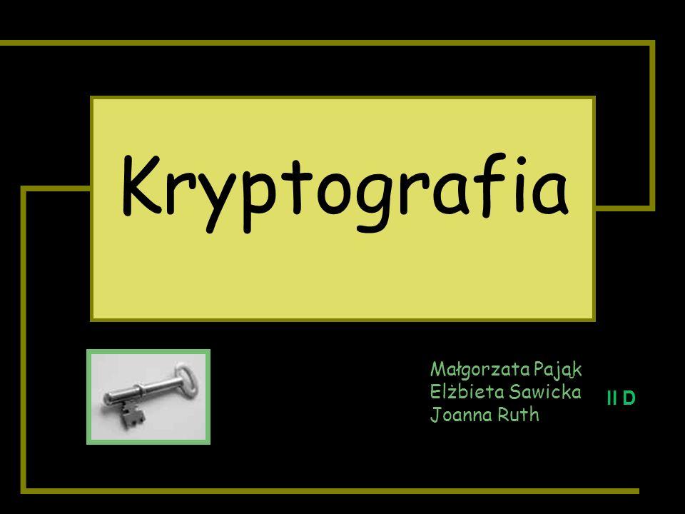 WYJŚCIEWEJŚCIE PRZENTACJA ZAWIERA MATERIAŁY O KRYPTOGRAFII WIADOMOŚCI PRZEZNACZONE TYLKO DLA OSÓB ZAINTERESOWANYCH UWAGA!!!