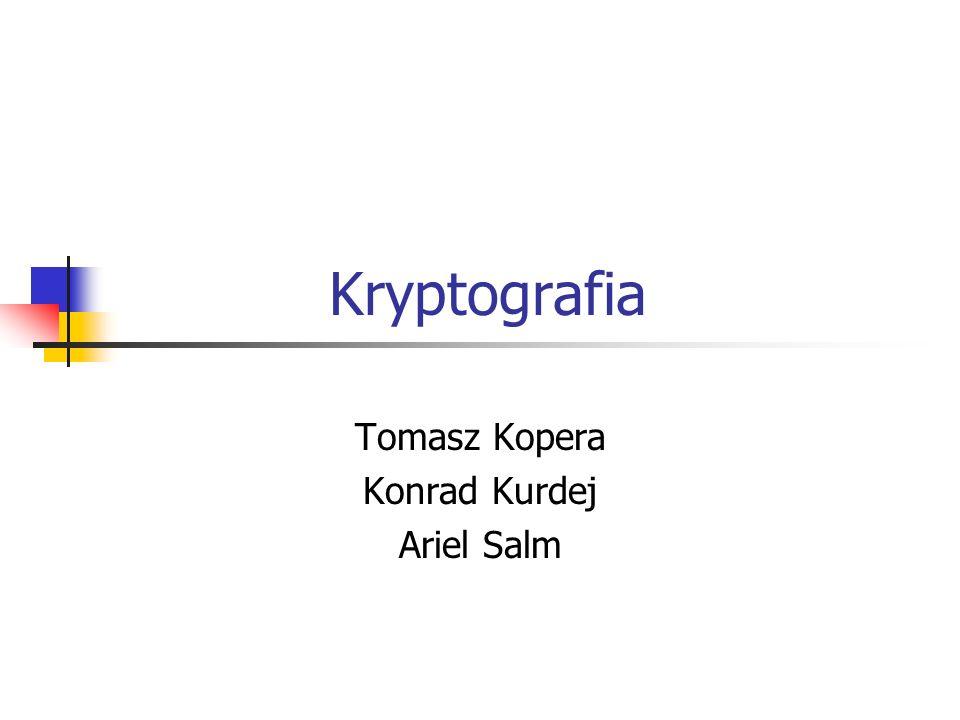 Algorytm RSA Opracowany w 1977 roku przez Rona Rivesta, Adi Shamira i Leonarda Adlemana system kryptograficzny oparty na kluczu niesymetrycznym.