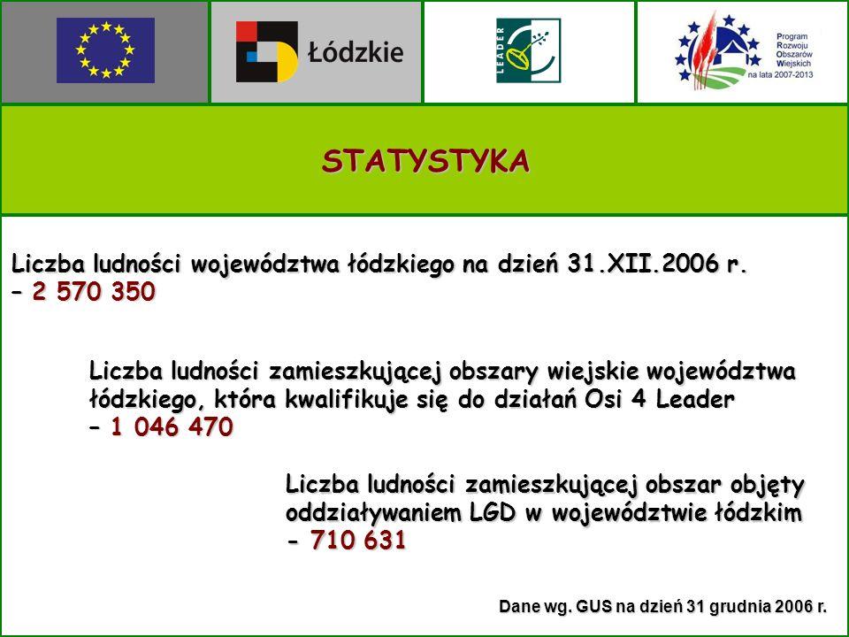 Dane wg. GUS na dzień 31 grudnia 2006 r.