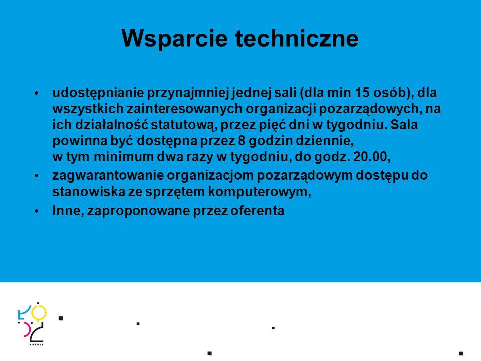 Centrum po 2013 roku - plany Umowa wieloletnia na realizacje zadania przez ngo/partnerstwo ngo Rozszerzenie usług/grup docelowych dla Centrum Obywatelskiego Centrum poza siedzibą ngo – większa przestrzeń do dyspozycji Współpraca z Urzędem Marszałkowskim w zakresie realizacji zadania