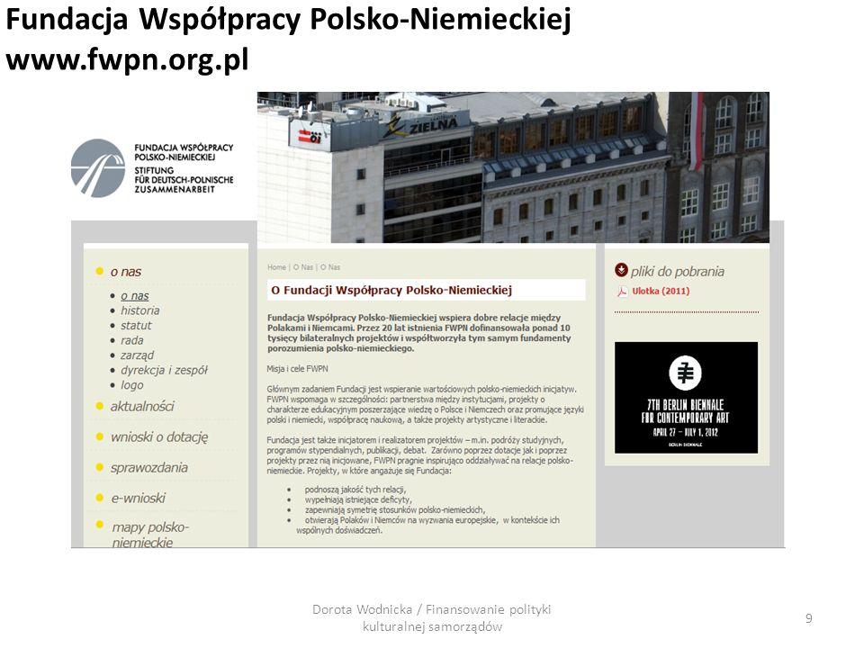9 Fundacja Współpracy Polsko-Niemieckiej www.fwpn.org.pl