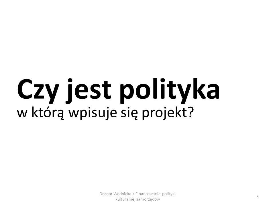 3 Czy jest polityka w którą wpisuje się projekt?