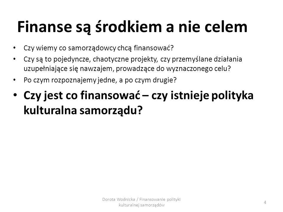 Czy wiemy co samorządowcy chcą finansować? Czy są to pojedyncze, chaotyczne projekty, czy przemyślane działania uzupełniające się nawzajem, prowadzące