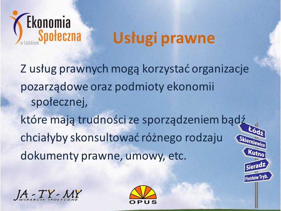 Usługi marketingowe Usługi te przeznaczone są dla podmiotów ekonomii społecznej, które chcą skutecznie promować swoje działania.