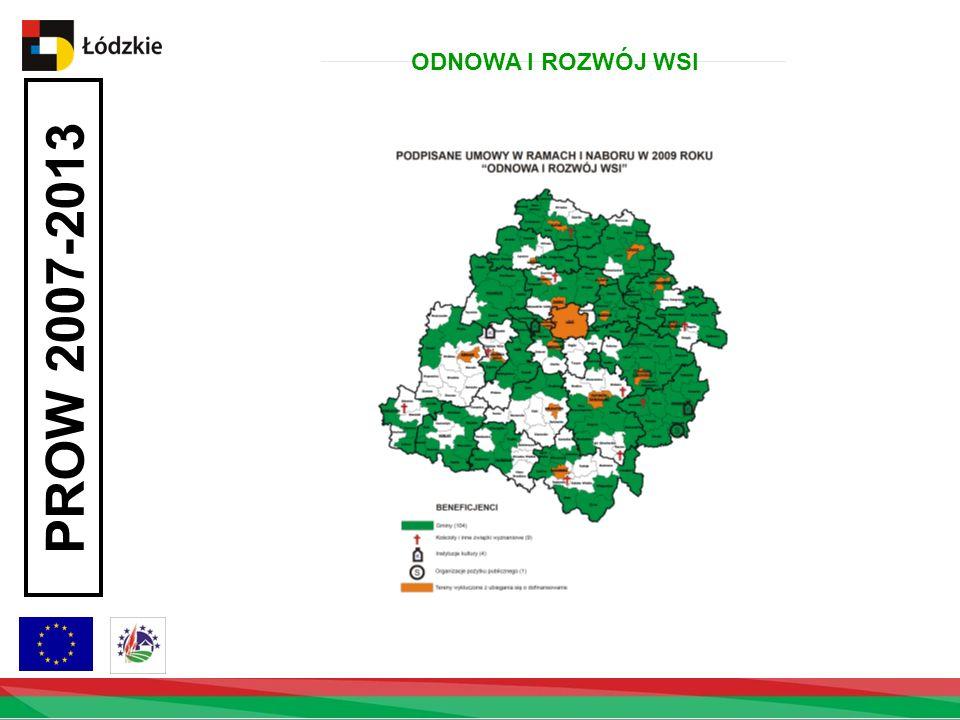PROW 2007-2013 ODNOWA I ROZWÓJ WSI Ilość podpisanych umów w powiatach