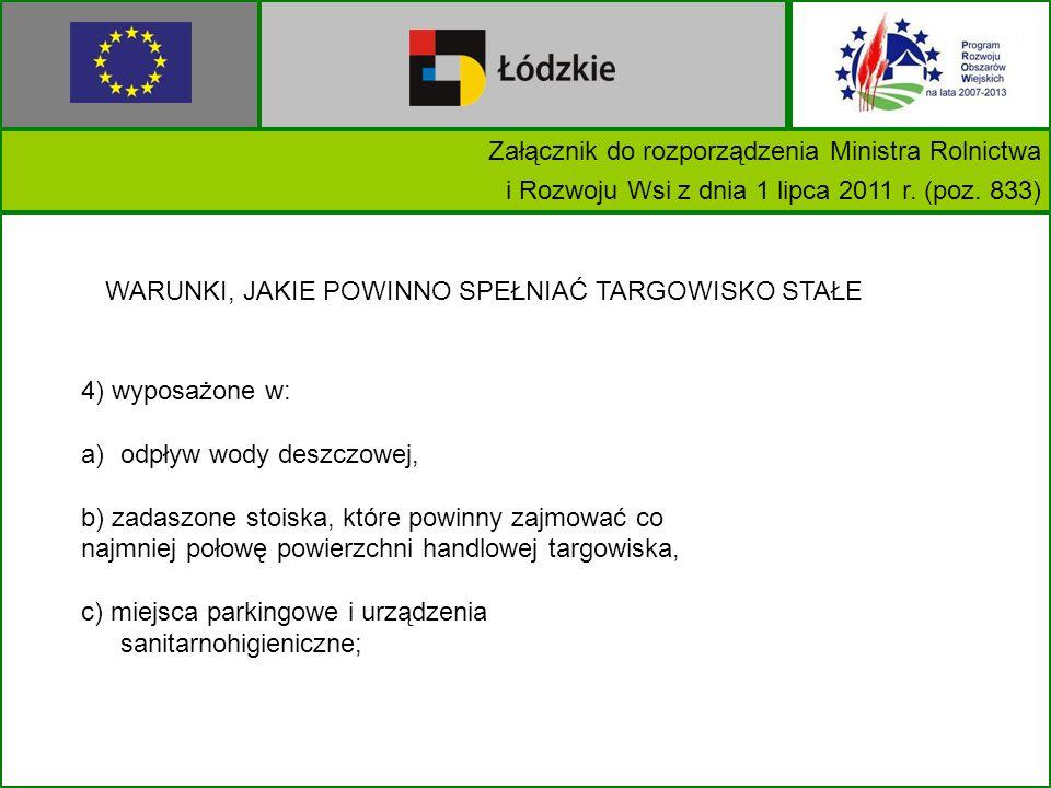 Załącznik do rozporządzenia Ministra Rolnictwa i Rozwoju Wsi z dnia 1 lipca 2011 r.