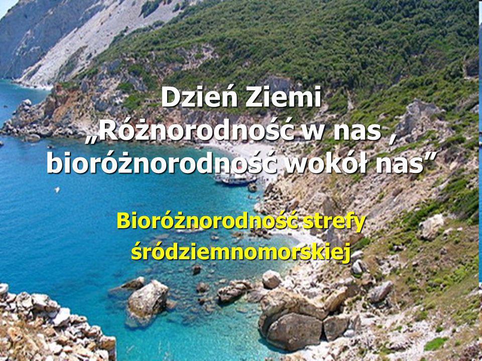 Dzień Ziemi Różnorodność w nas, bioróżnorodność wokół nas Bioróżnorodność strefy śródziemnomorskiej