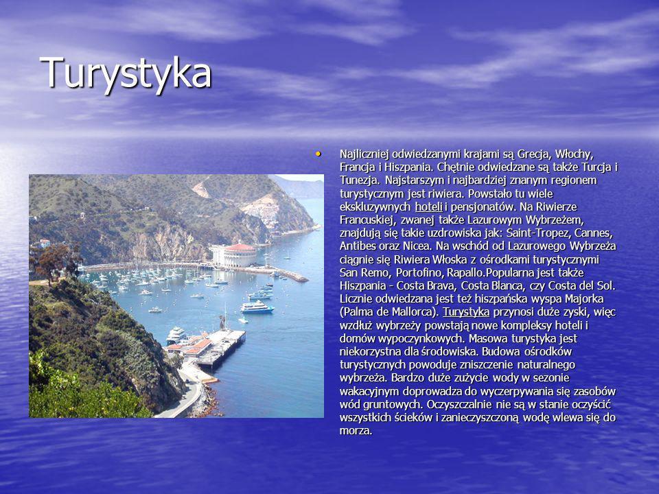 Turystyka Najliczniej odwiedzanymi krajami są Grecja, Włochy, Francja i Hiszpania. Chętnie odwiedzane są także Turcja i Tunezja. Najstarszym i najbard