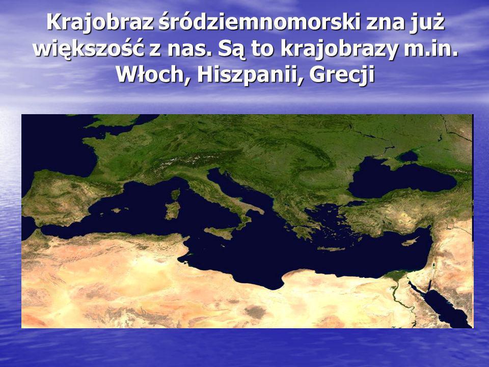 Krajobraz śródziemnomorski zna już większość z nas. Są to krajobrazy m.in. Włoch, Hiszpanii, Grecji