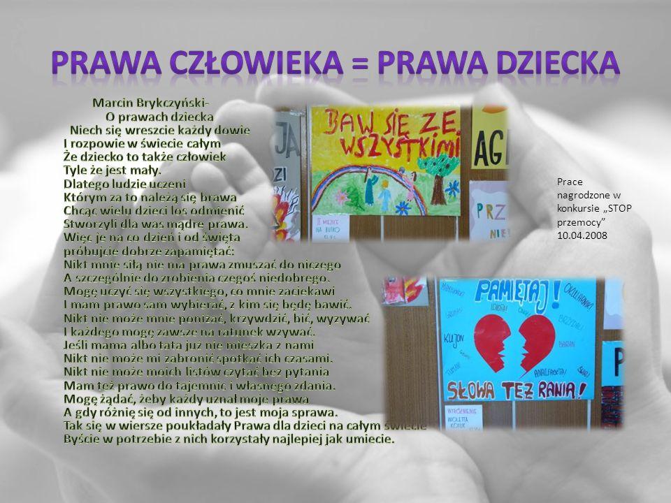 Prace nagrodzone w konkursie STOP przemocy 10.04.2008