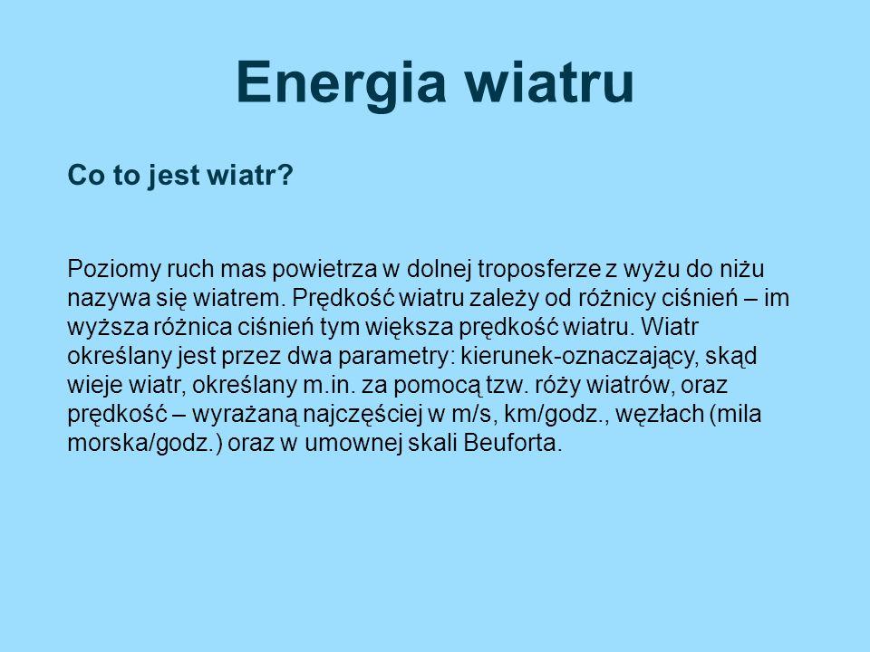 Ze względu na moc wyróżniamy trzy rodzaje elektrowni: Mikroelektrownie wiatrowe –posiadają moc niższą niż 100 W.