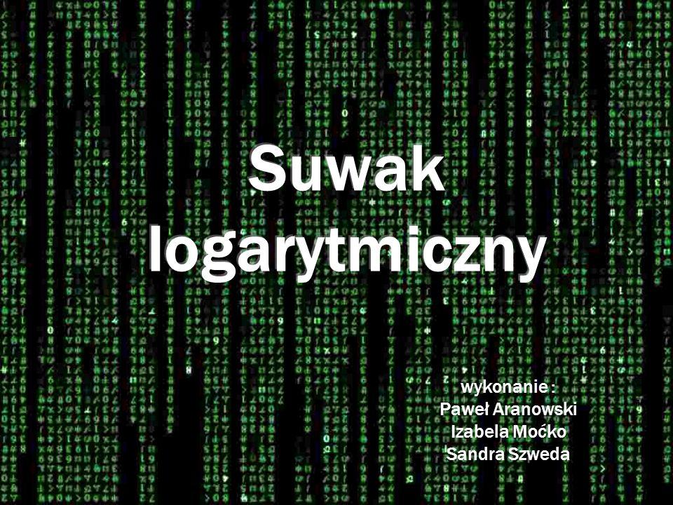 Suwak logarytmiczny Użycie I.