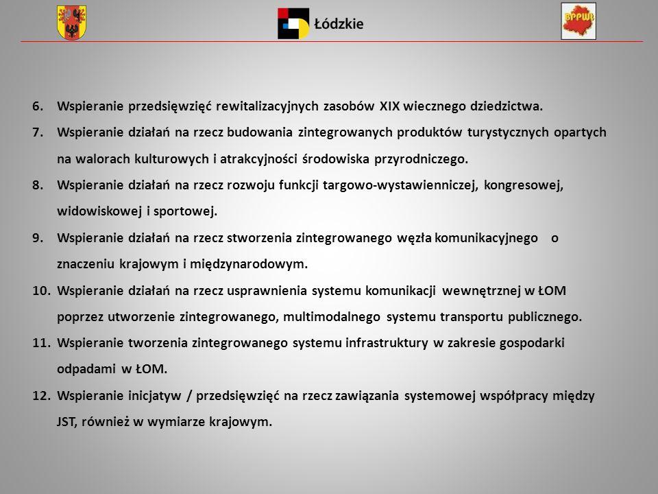 6.Wspieranie przedsięwzięć rewitalizacyjnych zasobów XIX wiecznego dziedzictwa.