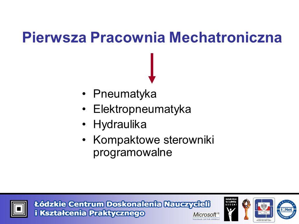 Pierwsza Pracownia Mechatroniczna Pneumatyka Elektropneumatyka Hydraulika Kompaktowe sterowniki programowalne