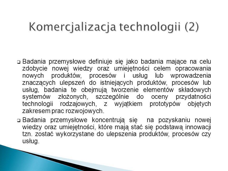 Badania przemysłowe definiuje się jako badania mające na celu zdobycie nowej wiedzy oraz umiejętności celem opracowania nowych produktów, procesów i u