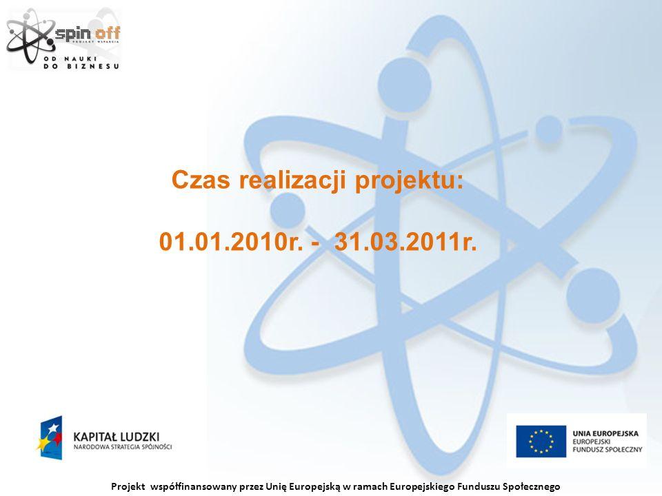 Czas realizacji projektu: 01.01.2010r. - 31.03.2011r.