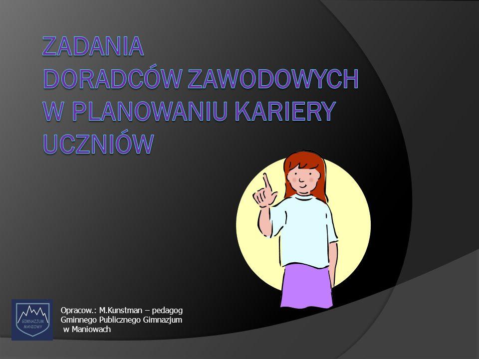 Opracow.: M.Kunstman – pedagog Gminnego Publicznego Gimnazjum w Maniowach