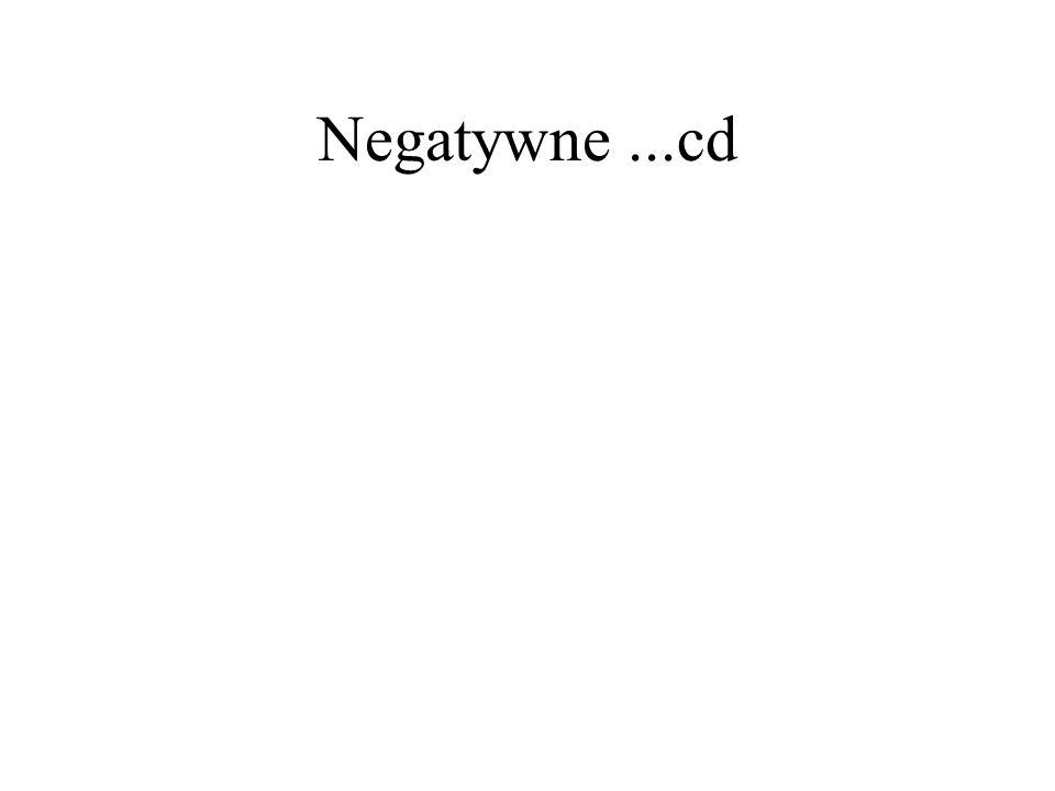 Negatywne...cd