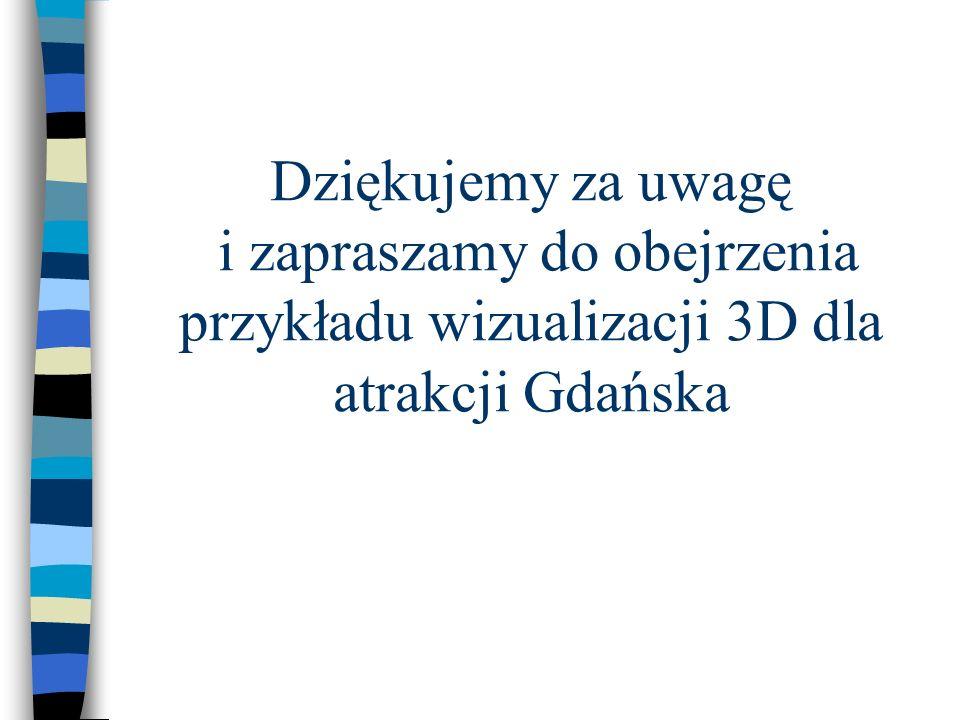 Dziękujemy za uwagę i zapraszamy do obejrzenia przykładu wizualizacji 3D dla atrakcji Gdańska