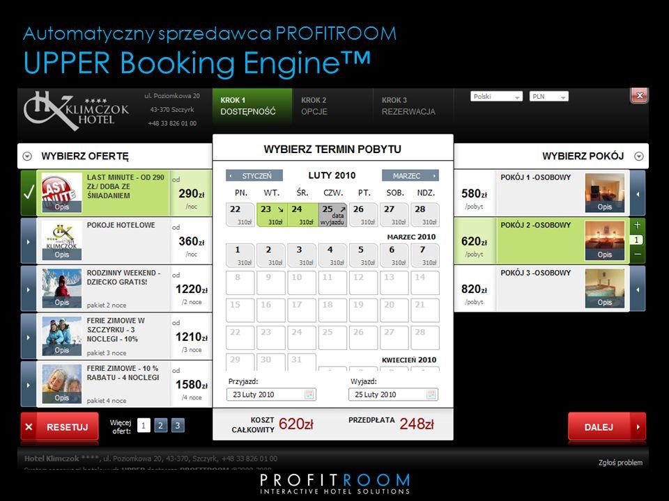 Automatyczny sprzedawca PROFITROOM UPPER Booking Engine