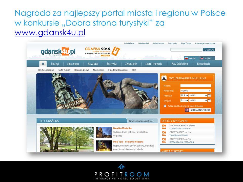 Nagroda za najlepszy portal miasta i regionu w Polsce w konkursie Dobra strona turystyki za www.gdansk4u.pl www.gdansk4u.pl